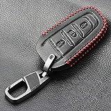 ZYHYCH Housse de Protection pour clé de Voiture en Cuir, adaptée pour Peugeot 208301308 308S 408 2008 3008 4008 5008 citroën X7 C1 C2 C3 C4 C5 DS3 DS4 DS5 DS6, Style 1