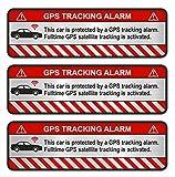 Finest-Folia Lot de 3autocollants GPS pour vélo, moto, alarme de voiture, antivol, traqueur sécurisé