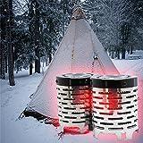 Lembeauty Mini réchaud portable pour les activités en plein air et le chauffage dans la tente