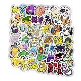 shihe Anime Japonais Pokemon Mignon Graffiti Casque Bagages Ordinateur Portable téléphone étanche Autocollant décoratif 50 pièces