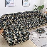 WXQY Salon Housse de canapé Extensible en Forme de L Housse de canapé méridienne Combinaison d'angle Anti-dérapant Protection pour Animaux de Compagnie Housse de canapé A2 3 Places