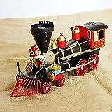 ksjdjok Produit à Vendre, modèle de Locomotive en métal du siège, Forme Classique 35 X 10 X 14CM A