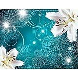 Papier peint intissé Lis 352 x 250 cm - Tapisserie Decoration Murale XXL Poster - Salon Appartement Photo d'art - 9197011a