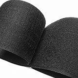 Larges bandes à coudre de 50 mm, 100 mm, 150 mm avec dos non adhésif en nylon pour coussins de canapé, gestion des câbles et projets d'artisanat (100 mm x 1 m)