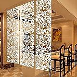 KESOTO 4X Papillon Fleur Suspendus écran Rideau Salle Diviseur Cloison Mur Blanc