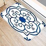OPLJ Tapis de Porte d'entrée de Cuisine en Porcelaine Bleue et Blanche Tapis Tapis d'intérieur coloré Tapis de Maison Tapis de Porte décoratif A5 50x80 cm