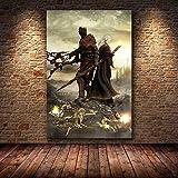 yaofale sans Cadre Le Jeu Affiche décoration Peinture des âmes Sombres sur Toile HD Toile Peinture Art Affiches et Impressions 50x75cm