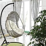Coussin pour fauteuil suspendu - Oeuf en rotin - Chaise de jardin - Coussin de chaise en forme d'œuf pour la maison et le jardin - Chaise non incluse (blanc)