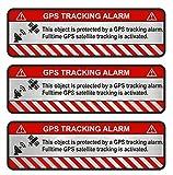 Finest-Folia Lot de 9 autocollants GPS - Pour vélo, moto, voiture - Alarme - Antivol - Suivi assuré (aluminium poli argenté, objet R057)