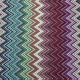 Kt Kilotela Tissu d'ameublement – Jacquard Gobelino – Coupon de 100 cm de long x 280 cm de large – Zig Zag – Multicolore – 1 m