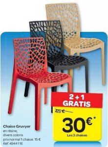 ▷ Catalogue chaise gruvyer carrefour pour acheter en ligne - Les préférences des clients 【2021】