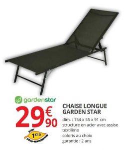▷ Catalogue chaise longue garden star à acheter en ligne - Les favoris 【2021】