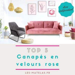 ▷ Liste des canapé rose velour à acheter en ligne - le top 30 【2021】
